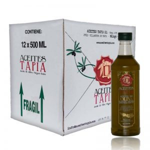 Caja botellas PET AOVE