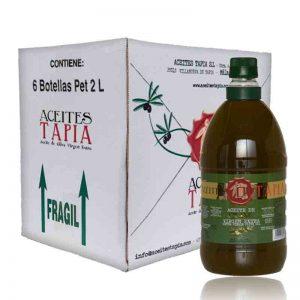 Caja botellas PET 2 litros AOVE