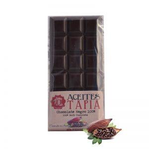 Chocolate negro 100% con AOVE