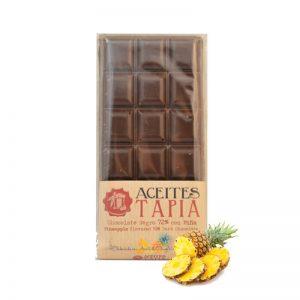 Chocolate con AOVE y piña